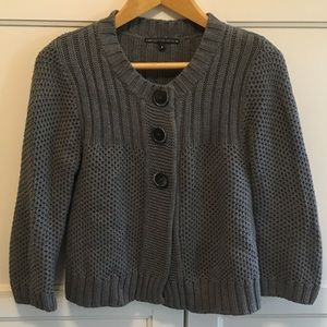 Marks & Spencer gray knit cardigan S
